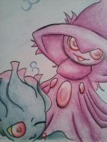 Mismagius and Misdreavus by Rennue