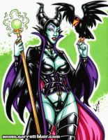 Maleficent commission by gb2k