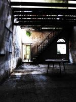 Abandoned house with table by Kenvi