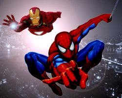 Spider-Man and Ironman by stick-man-11