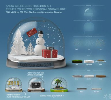 DOA Snow Globe Construction Kit by design-on-arrival