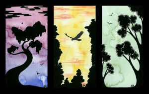 Silhouette Cards by Caelitha