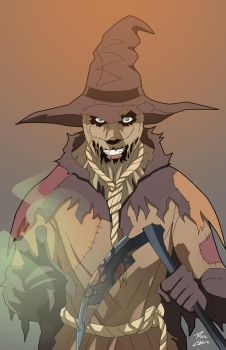 Scarecrow on the loose by phil-cho
