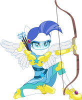 Friendship Games: Female Canterlot Guard Archer by TheShadowStone
