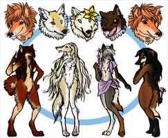 Assorted Wolfythings II by Miyukitty