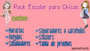 Pack Escolar para Chicas by RoohEditions