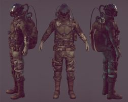 Post Apocalyptic Soldier by noosan