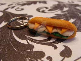 Polymer Clay Sub Sandwich by TheCharmBakery