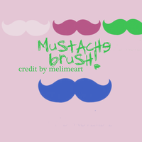 mustache brush by melimeart