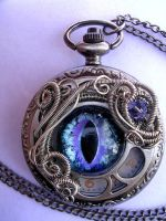 Purple Ice - Dragon Eye Pocket Watch by LadyPirotessa
