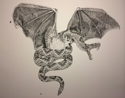 Snake and Bat Harmony by Fischer-Art