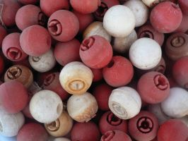 Red and White Balls by dudestock