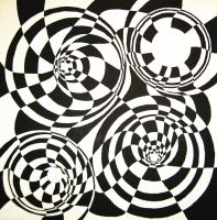 circles illusion 2 by herbevore