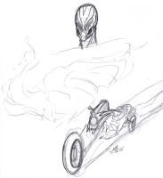 Creature and Ghost Rider-esque bike by ConstantM0tion