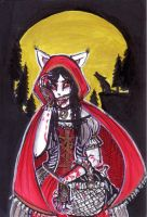 ACEO #035 Red Riding hood (maxi card) by Lintu-WORKS