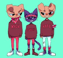 matching sweaters by ribless