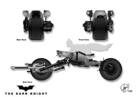 Batpod - Side, Front and Rear by Paul-Muad-Dib