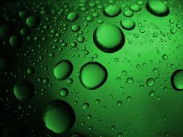 Green Bubbles by Adaera