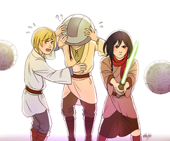 SnK x Star Wars - EMA by unhlyghst