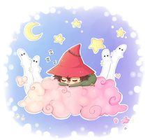 Joxter on a cloud~  Fluffy dreams uvu by Lit-chi
