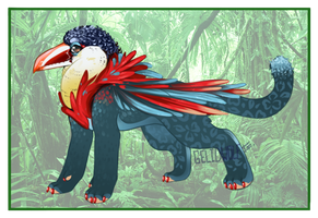 Character Design Entry 2: Curl-Crested Aracari by Gelidwolf