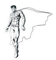 Superman Lineart by Mercvtio