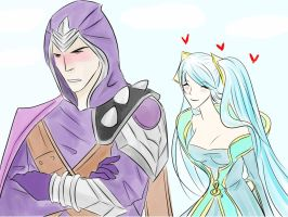 Sona and Talon by habce