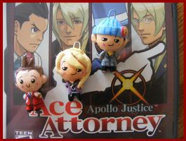 Chibi-Charms: Apollo Justice 3 by MandyPandaa