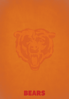 PosterVine Chicago Bears Vintage Logo Poster by PosterVine