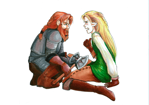 Insert Funny Caption Here, Legolas and Gimli by FlukeOfFate