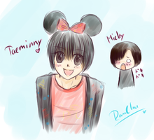 Taeminny and Micky Yoochun by RanChu-Obscure