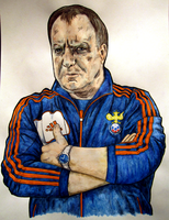Dick Advocaat by monkeyswithbrushes