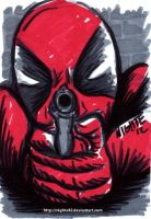 Deadpool ACEO Sketch Card by nighte-studios