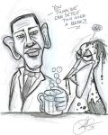 Barack Obama Oil Beer by Tat2ood-Monster