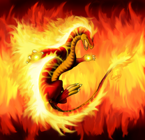 Asim the Fire Drake by Gingy1380