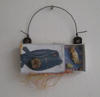 Tiny assemblage: Puffer Fish by bugatha1