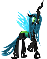 Queen Chrysalis by TellabArt