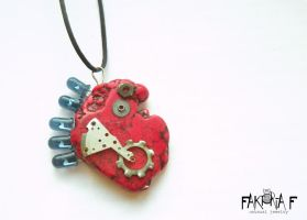 Electric Heartbeat Pendant by faktoria-f