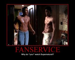 Supernatural - Fanservice by Izzyv1o