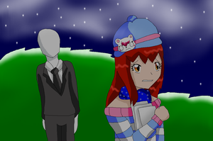 Alessandra is being stalk by Slender by HeroHeart001