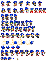 Sonic Jr- Normal Sprite Sheet by xXCamTroXx