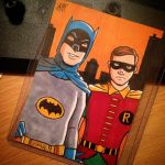 1960s Batman and Robin Sketch Card by calslayton