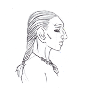 Portrait of a neanderthal woman (sketch) by LeviathanInUtero