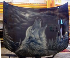 Airbrush - Wolf by Marzzunny