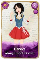 Ever After High Oc Card - Geneva by KariaHearts56789