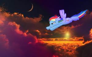 Rainbow Dash at Dawn by Antik9797