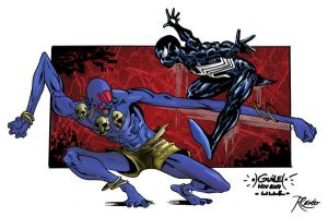 Dhalsim vs Spider-Man colored2 by RCarter