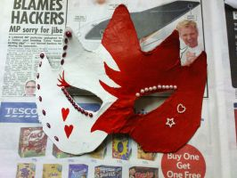 mask red and white by rawrnessxx
