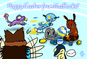 Happy Easter from NuzRooke! by DragonwolfRooke