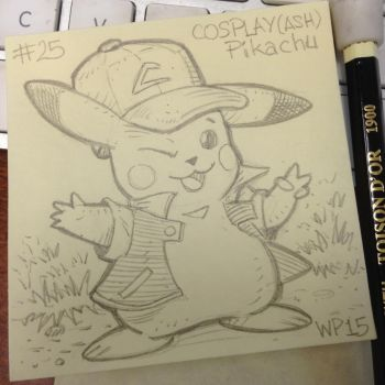 Post-It Note Pokemon #025 Cosplay Pikachu by WillPetrey
